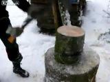 Как легче колоть дрова